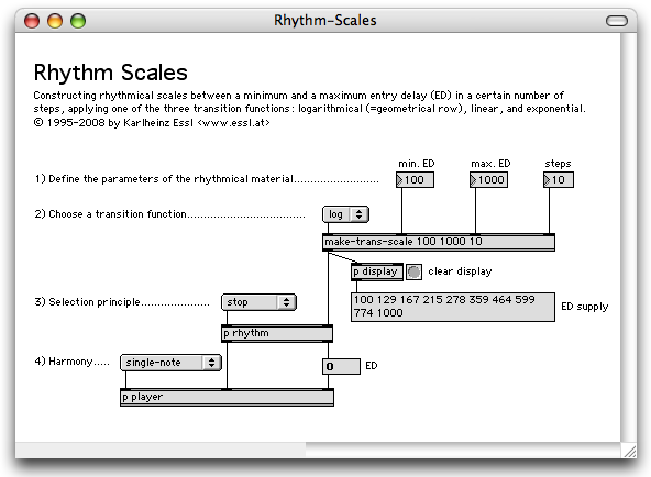 RTC-lib Tutorial: Rhythm Scales