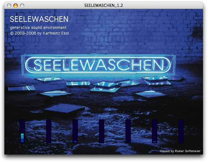 User interface of SEELEWASCHEN 1.2