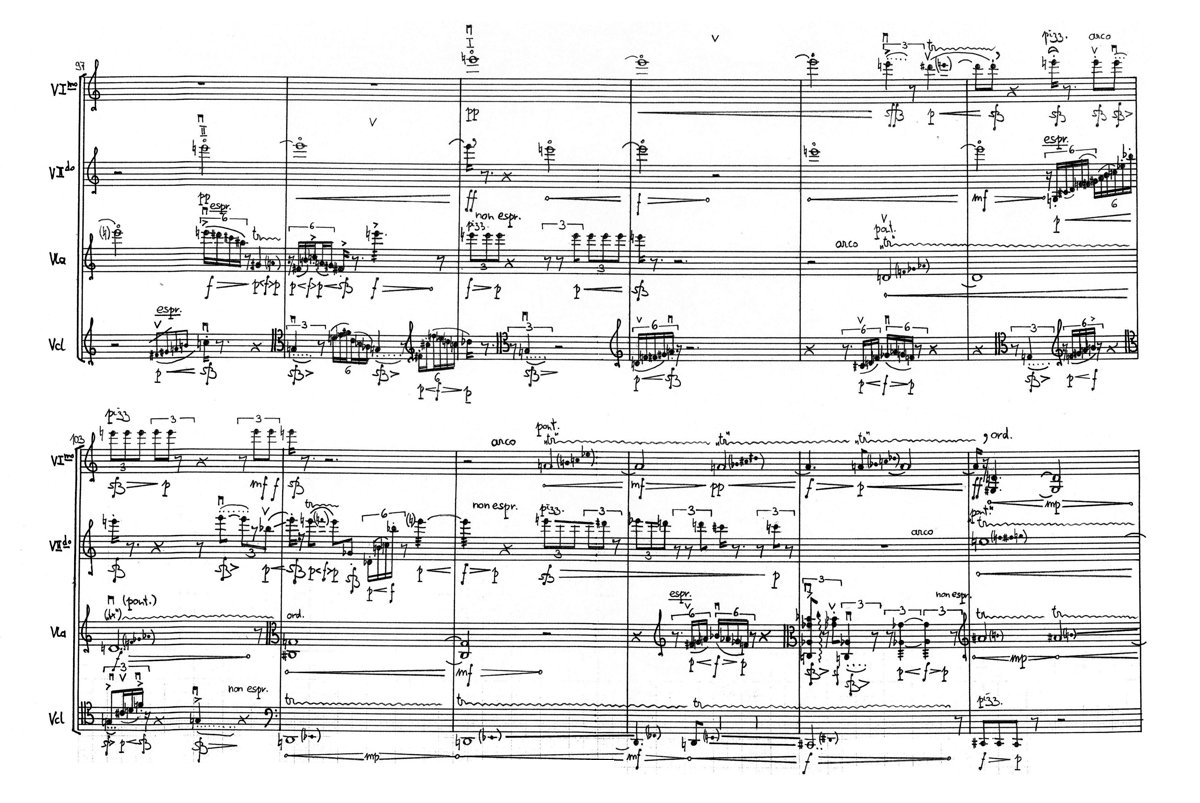 Karlheinz Essl: upward, behind the onstreaming it mooned - score excerpt